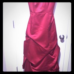 David's Bridal Red Cocktail Ball Gown Size 4j